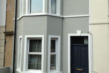 Uk house exterior brick and paint