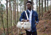 Meet The Model – Samuel Awolesi / Samuel Awolesi models the Kurtis Paul canvas bag collection