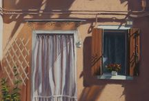 Paintings of Italy / There is so much beauty to be found around every corner and I love painting buildings in the landscape.