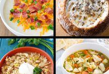 Soups / Crock pot and stove top soups
