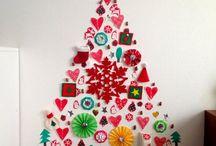 クリスマス壁面