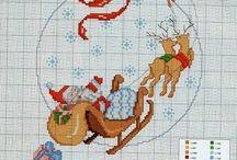 Punto croce:Natale