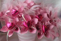 květiny s bonbóny