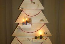Steigerhouten kerstboom / Kerstboom van hout zelf gemaakt.