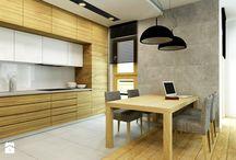 projekt kuchnia drewno styl skandynawia