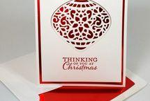 Weihnachtskarten mit neu stempel