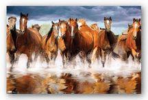 festmény lovak