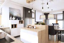 Nowoczesny dom koło Bielsko-Białej / Nasz kolejny projekt nowoczesnego wnętrza domu. Dodatki pod różną postacią urozmaicają wnętrze, podobnie jak bogata, a zarazem utrzymana w subtelnym,przemyślanym tonie kolorystyka. Uroku dodają także meble i dodatki nawiązujące do industrialnych, loftowych stylistyk.  Po więcej inspiracji zapraszamy na Naszą stronę internetową:biuro@monostudio.pl oraz na Facebooka