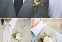 Boutoniers para el novio / #Amor #Wedding #Boda #Idea #Love #husband  #groom #guest #boy