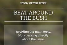 words/idioms
