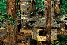 Architecture-Treehouses / All styles of treehouses-from fancy & detailed to play forts...all just for inspiration to build a fun treehouse for our kids! / by VickiandJoey Froelich