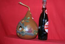 Birdhouse Gourd / http://stores.ebay.com/Front-Porch-Crafts-And-Gourds?_trksid=p2047675.l2563 Visit my e bay store to purchase this birdhouse and many other gourds.