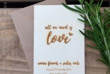 Engraved Plywood Save the Dates
