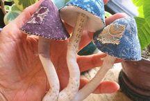 houby- textil