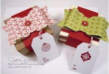 Gift box punch board stampin up