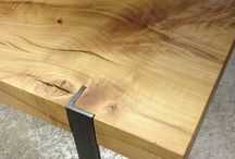 Oak steel furniture