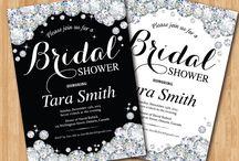 Chá de Cozinha ou Lingerie Tema Diamante - Bridal Shower Diamond Theme