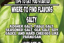 Where to Find Flavor / A 5 part series that teaches you how to find the 5 basic flavors of salty, savory, spicy, sour, and sweet when cooking during cancer treatment. These pins are extremely helpful to keep as a reference while you are cooking.
