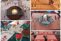 Table settings and inspiration / Table decoration ideas for inspiration