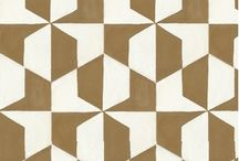 Mission Hexagonal Cement Tile / This hip selection of patterned hexagon cement tiles can be used on their own or they can be mixed with solid color hexagon cement tiles in coordinating colors. You may customize the pattern colors using the 60-color Mission Color Palette. Details and additional information can be found on our website.