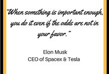 INSPIRATIONAL PINS When something is important enough, do it, even if the odds are not in your favor. @elonmusk