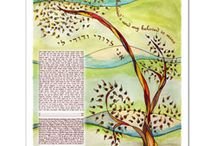 Eve Rosin's Ketubah Art / Fine art ketubahs by Eve Rosin.  You can see them at www.mpartworks.com