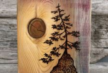 obrazy na drewnie