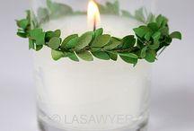 Διακόσμηση  χριστουγεννιάτικη με κερια