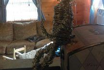 DIY wire sculpture
