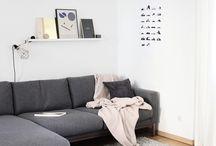B/W Living Room