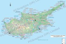 Cyprus maps / Here's a few maps of Cyprus we've created for clients over the years. Find out more about our maps on our website (http://www.pcgraphics.uk.com) or on our other Pinterest Boards. Or try our blog  http://www.pcgraphics.uk.com/blog/