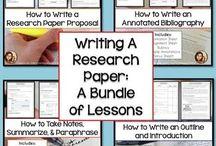 Research Ideas for High School ELA