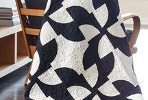 Black and white, Blue and white / fekete-fehér és kék-fehér ruha ,quilt
