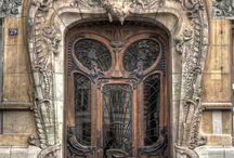 Doorways and window panes