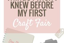 At the Craft Fair / Ideas for decorating your booth at the craft fair!