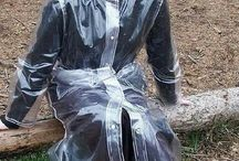 Plasticpants & transparent raincoats.