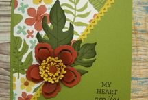 Card - botanical blooms