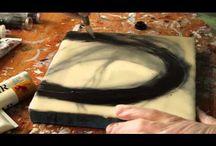 способы росписи, окраски, ручная работа