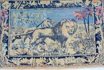 Lions and Tigers in Carpets / Carpets with Tiger and Lion Motif's