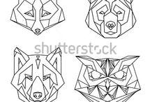 geometrikus allatok