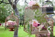 vintage birdcage wedding