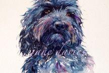 watercolor - animals