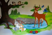 Muurschildering/ wallpainting / Muurschilderingen door Niekie Kids Design