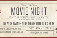 Movie Night Party Collection / Invitations and partyware to decorate your Movie Night Party / Birthday!