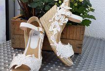 Alpargatas novia monas / zapatos novia alpargatas monas
