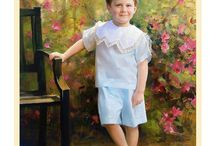 Spring Backgrounds / Spring Oil Portraits hand painted by Leon Loard Oil Portraits