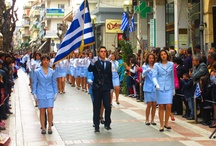 Agrinio's Independence Day Parade / Greek Independence Day in Agrinio. March of the foot soldier.