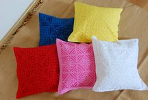 Applique Cushion Covers / Applique Cushion Covers from Bohemian Weaves.  To buy write into BohemianWeaves@gmail.com