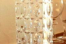 OP Art Crystal 1960´s Vase