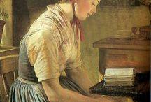 lezende vrouwen / foto,s en tekeningen van lezende vrouwen , van alle tijden / by Annemarie Bloemendaal